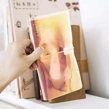 Cool Transparent Design Travelers Notebook DIY Journal Gift Blank+Grid+Monthly Paper 2018 Summer Trend Agenda цена