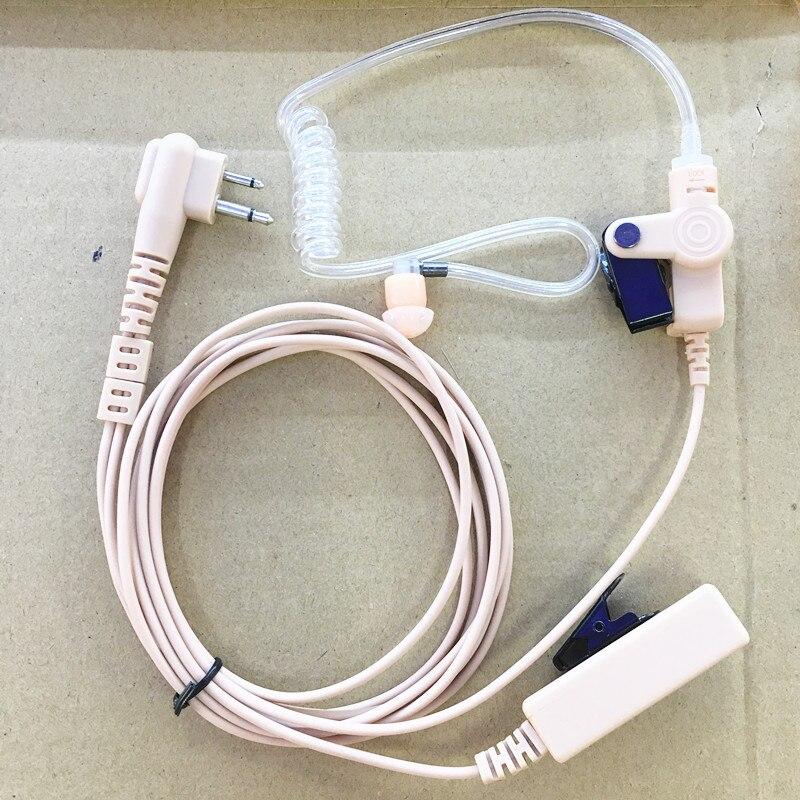 Brown Long Big PTT Air Tube Headphone 2pins For Motorola Gp300 Gp88s/2000/88/3188,ep450,dep450 Xir P3688,cp140,etc Walkie Talie
