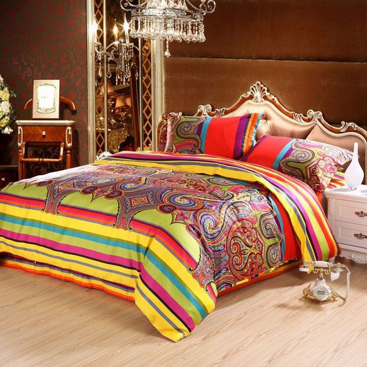 Wedding Bedsheet Egyptian Cotton Bedding Sets King Size Duvet Covers Bedspreads Falt Sheet Pillow Cases Comforter Cover In From Home