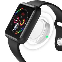 Купить с кэшбэком Smart Watch Connected Bluetooth Wrist Smartwatch for Apple iOS iPhone Samsung Sony Huawei Xiaomi LG Android Phone (Red Button)