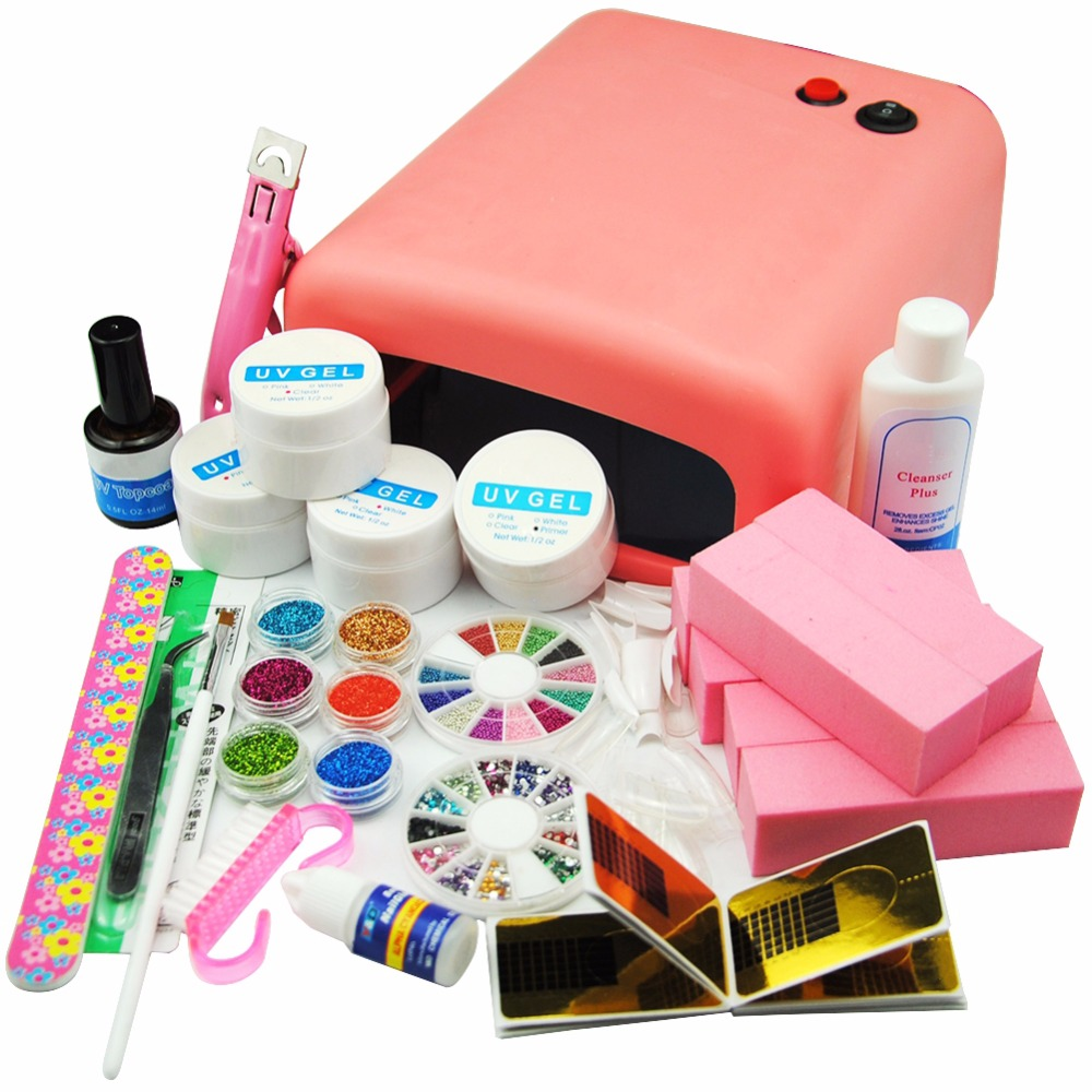 COSCELIA Acrylic Nail Kit Set For Manicure Gel Nail Kits With Lamp Nail Art Sets Tools For Manicure Pedicure Set UV Gel Kit цена