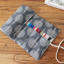 Flowers Pencil Case Students 7/9/13 Pokets Pencil Wrap Stationary Roll Brush Pencil Storage Bag For Painting School Supplies 2018 new arrival 48pcs pencil sketch pencil set brush pen knife drawing pencil for students school painting stationary tool