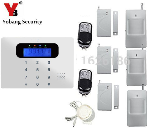 YobangSecurity LCD Wireless GSM SMS Home Burglar Security Alarm System Detector Sensor Kit Autodial House Burglar Intruder Alarm 433mhz dual network gsm pstn sms house burglar security alarm system fire smoke detector door window sensor kit remote control