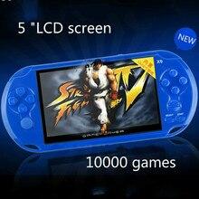 Портативных игровых консолей X9 5 дюймов большой экран высокой четкости 10000 рэш gba игры 8 ГБ подлинной безопасности бесплатно доставка