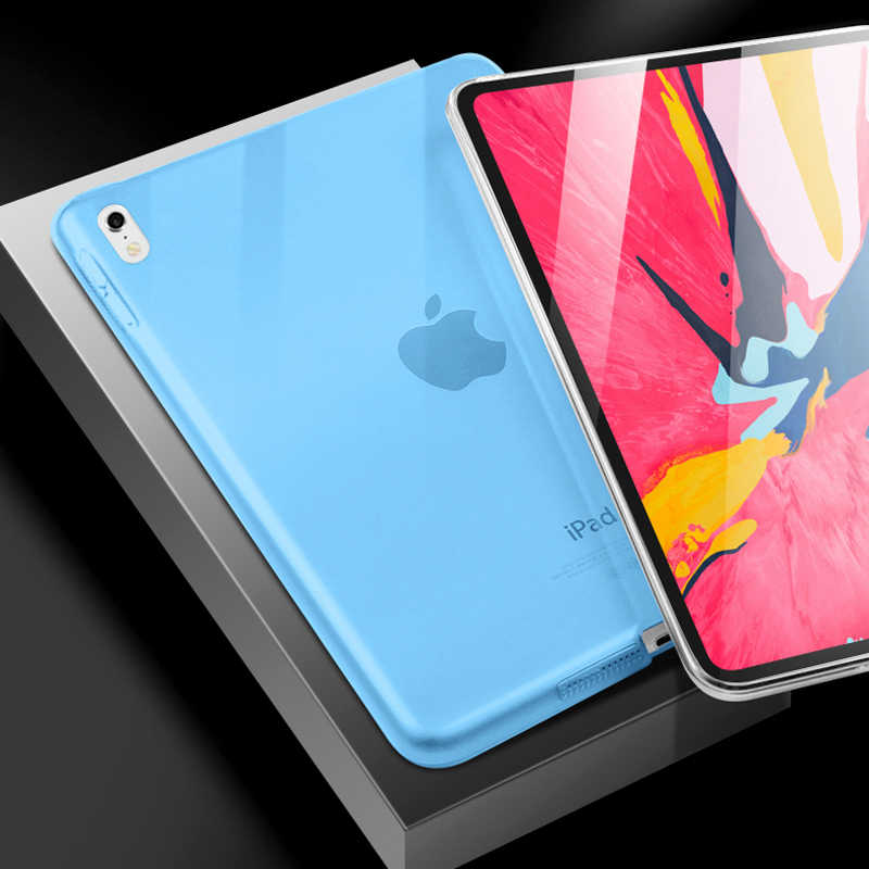 new concept a96d0 e3469 GOOJODOQ Case for iPad Pro 11 2018 Pro 12.9 Transparent Soft Silicone Case  for iPad 2018 9.7 Ultra Thin TPU Protective Funda