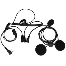 2 Pin Finger PTT Headset Walkie Talkie Motorcycle Helmet Microphone For Kenwood For Baofeng Retevis For