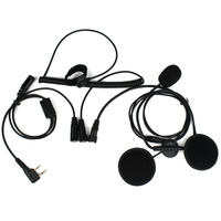 New 2 Pin Finger PTT Motorcycle Helmet Headset Microphone For Kenwood BAOFENG Retevis WOUXUN TYT C2160A