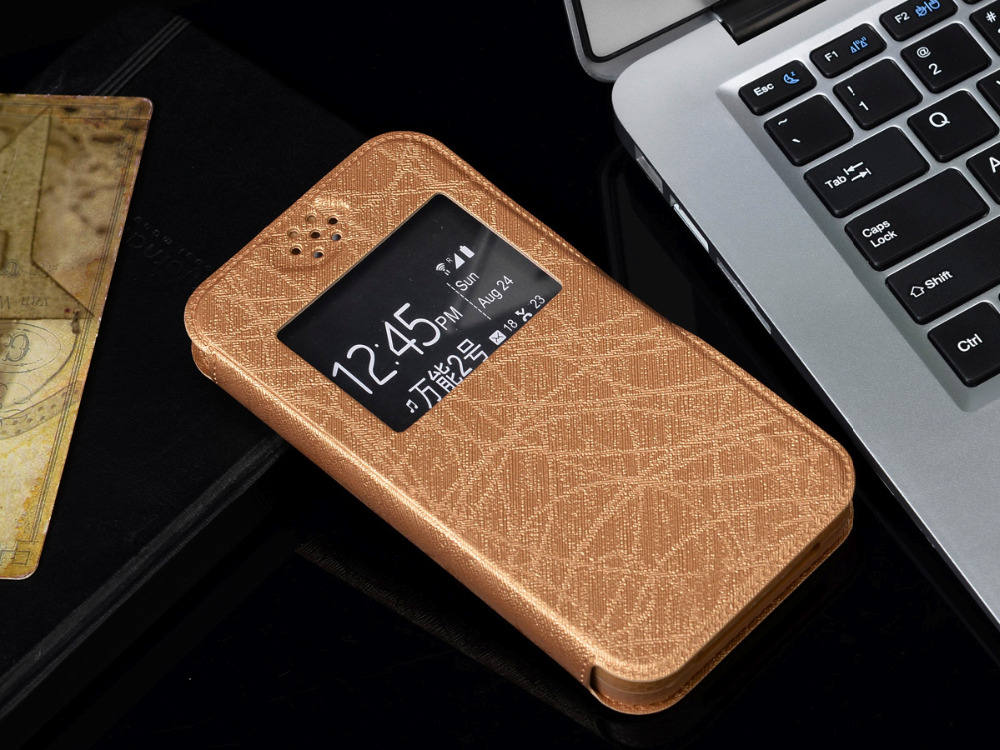New Item,Fashion Inside Silicon Case PU Leather Case For BQ BQS-4560 Golf Back Cover Universal 4.5 Phone Bags, Gift F2