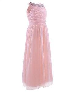 Image 3 - 2020 新着夏のフラワーガールのドレス王女の誕生日ページェント初聖体シフォンパーティーロングマキシドレス