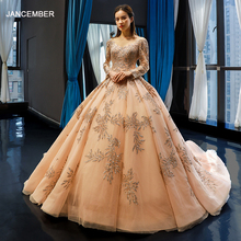 jancember ball gown evening dresses 2019 long sleeves