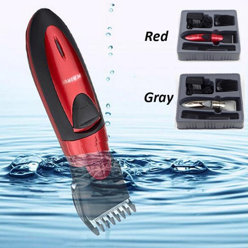 Profissional máquina de Cortar Cabelo Elétrica Recarregável Aparador de Pêlos Barba Trimer Cabelo Máquina de Corte Para Corte de Cabelo À Prova D' Água