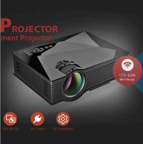ФОТО 2016 Newest Original Unic UC46 LED Mini Projector Full HD 1080P 3D support mini projector with WIFI connection projector UC46