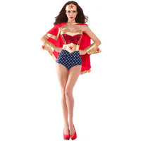 New Adult Supergirl Costume Woman Superhero Cosplay Thor American Captain Avengers Costumes Girls Party Gown Clothes