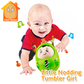 Minitudou Baby Toy 9CM Tumbler Doll Mobile Musical Rattles Toys For Babies Newborns Roly-poly