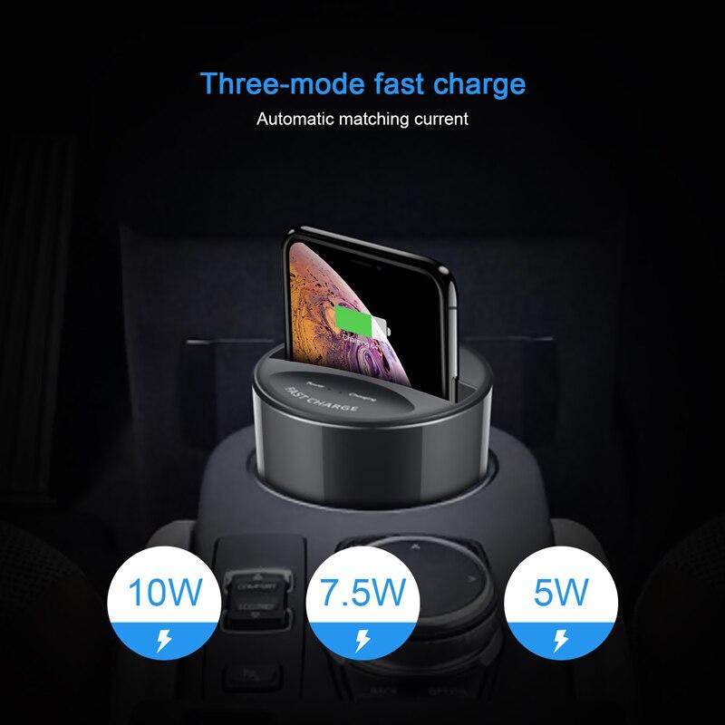 X9 Voiture Chargeur Sans Fil Tasse X8 mis à jour Qi Chargeur Stand De Charge Pad avec Sortie USB pour iPhone 8 iPhoneX Samsung galaxy S8 S7