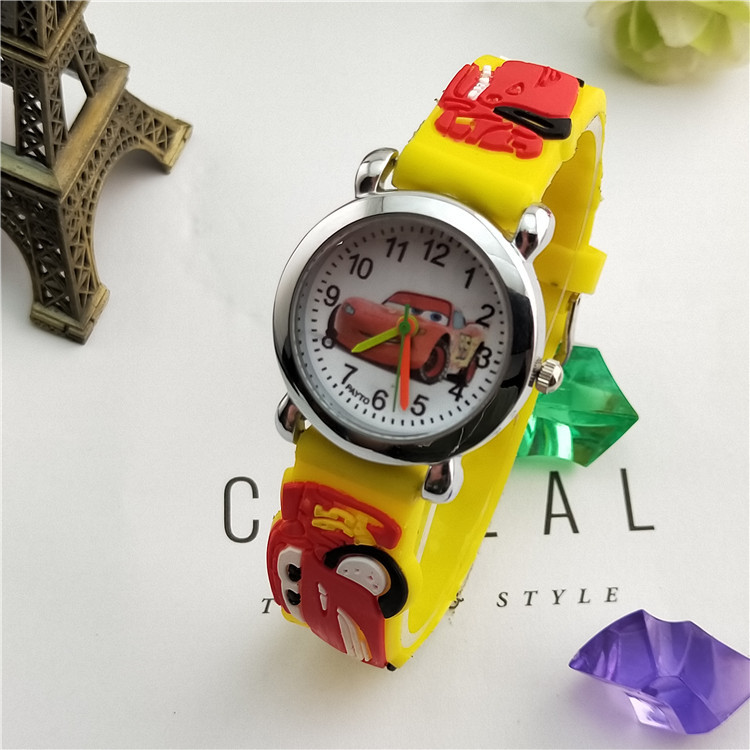 Children's Cartoon Watches, Cars, Silica Gel Watches, Boys'Watches, Children's Watches with Charming Palms for Students in 2019