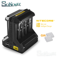 NITECORE Intellicharge I8 eight Bays Battery Charger Li ion 18650 14500 16340 26650 AAA AA Automatically Detects Battery Charges
