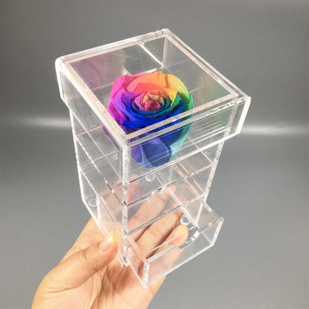 Acrylic Flower Box Christmas Valentine S Day Gift Rose Make Up
