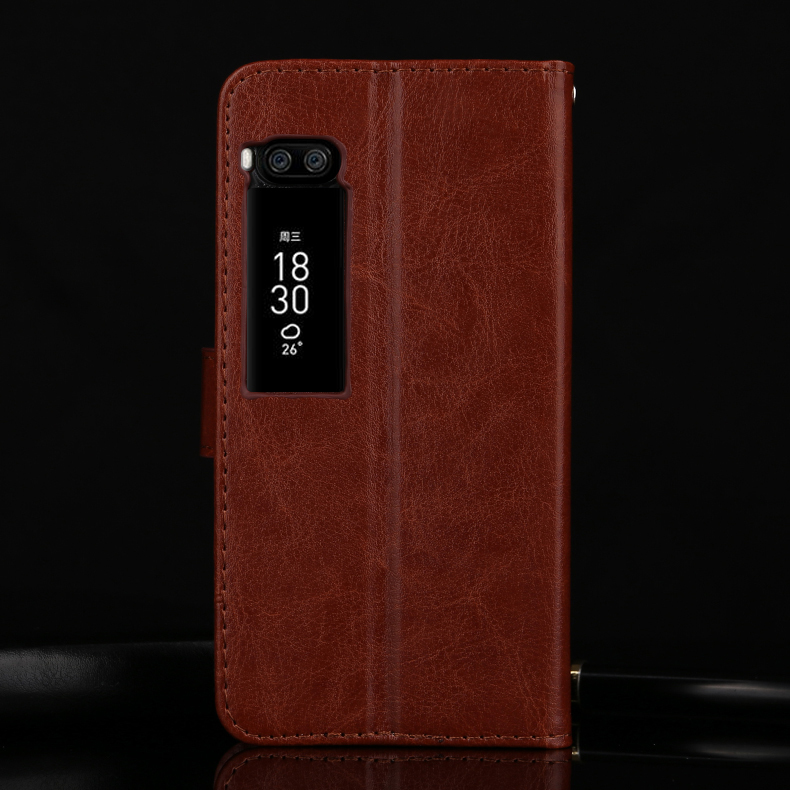 For Meizu Pro 7 5 2 quot Premium Leather Wallet Leather Stand Card Slots Case For Meizu Pro 7 Plus 5 7 quot in Wallet Cases from Cellphones amp Telecommunications