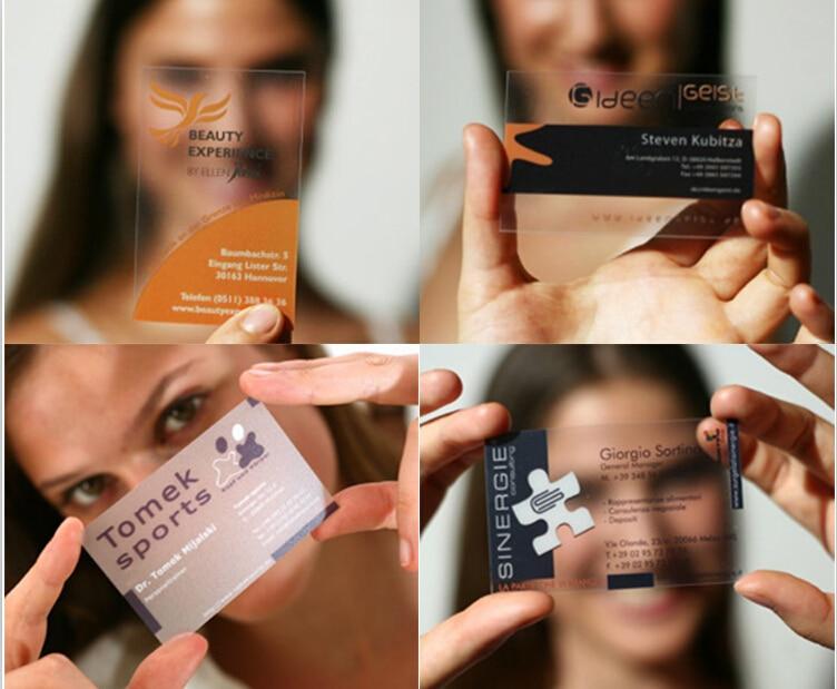 custom business card printing name visit printing transparent pvc post card plastic business card great quality