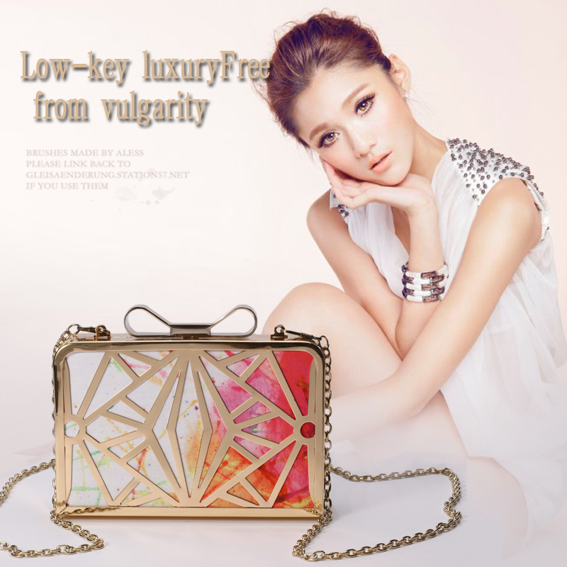 Women Handbags PU Leather Metal Evening Clutch Bag Party Shoulder Bag Messenger & Crossbody Bags Bridal Purses Day Clutches 6037