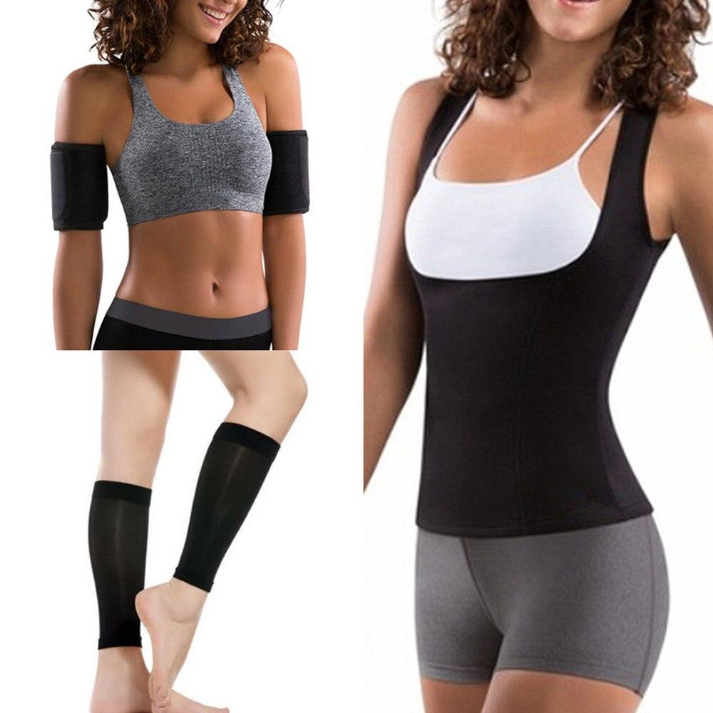 9b409e0d00 Hot Women Shapers Abdominal Waist Trainer Slimming Shirt Sweat Sauna  Neoprene Body Shaper Fat Burner Arm Slimming Calf Shapewear