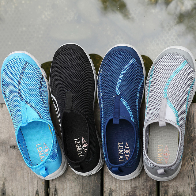 LEMAI 2016 New Cool Athletic Men Sneakers Summer Breathable Mesh Sport Shoes For Men Outdoor Super Light Running Shoes FB013
