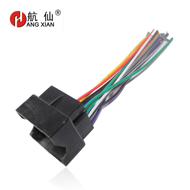 US $6.21 10% OFF|Car Stereo ISO Radio Plug Power Adapter Wiring Harness on