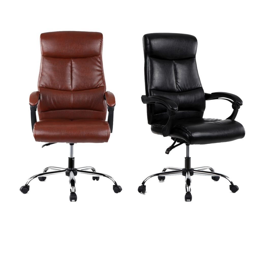 luxury office chairs. Adjustable Ergonomic PU Leather Executive Office Chair Recliner Luxury High Back Computer Desk Managerial Chair-in Chairs From Furniture On