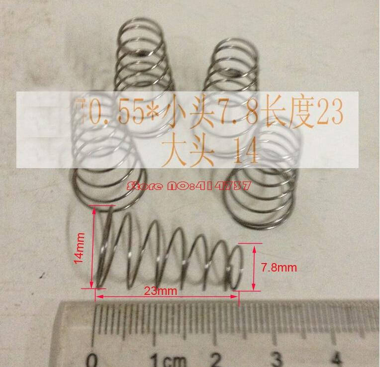 9 pcs 0.55*7.8 & 14*23mm de aço Inoxidável mola cônica, compressão da mola cónica sprial, mola cônica de casal