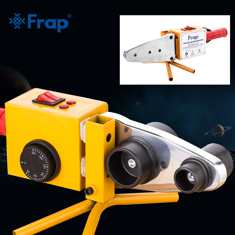 Frap Plumber Tools Iron Box Temperature Controled Plastic Pipes Tube Welding Machine PPR Pipe Welder AC 110 220V 20-63mm To Use