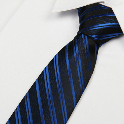 SHENNAIWEI Royal Blue Striped Black Tie 8 Cm Formal British Style Men Neckties 2016 Gravatas Lot Wholesale