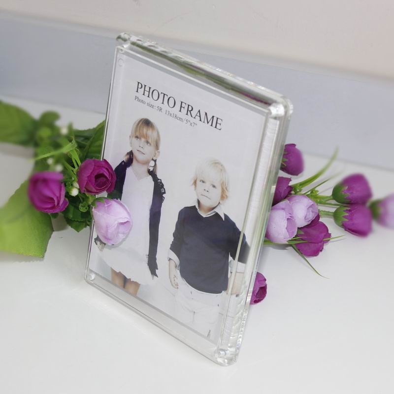 10 unitspack 2017 new fashion transparent rectangle acrylic hot selling plexiglass picture