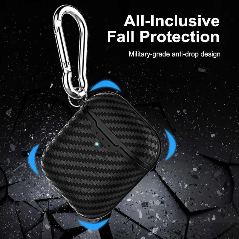 ビジネスソフト全保護ケース Airpods 2 Bluetooth ワイヤレスイヤホンのため Airpods 1 2 カバーフック