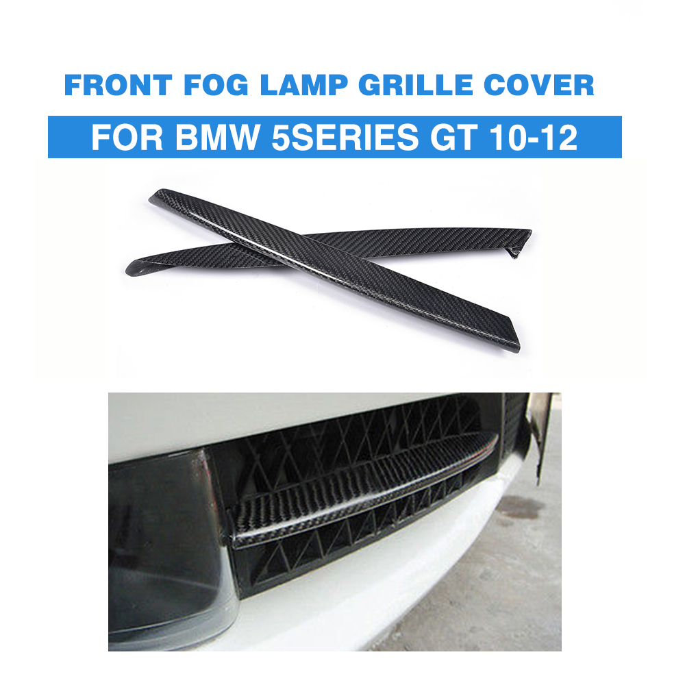 Carbon Fiber Front Fog Light Covers Lamp Masks Trim Stickers For BMW F07 GT Gran Turismo 2010-2012 carbon fiber front fog light cover for bmw e46