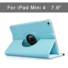 360 Вращающийся Чехол для iPad mini 4 Смарт Флип Стенд A1538 A1550 противоударный защитный 7,9 »Чехол для iPad mini 4 tective оболочки