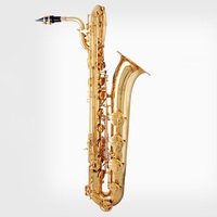 Professional playing Baritone Saxophone falling tune E saxophone bakelite mouthpiece Eb gold Sax Baritone Saxophone in E sax bag
