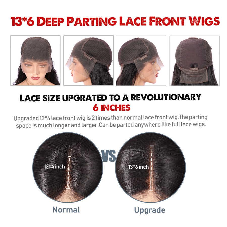Глубокая часть кудрявые человеческие волосы парики 13*6 влажные и волнистые кружевные передние парики бразильские кружевные передние al парик remy волосы предварительно выщипанные Отбеленный узел