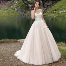 Detmgel Elegant Strapless A-Line Wedding Dresses 2019