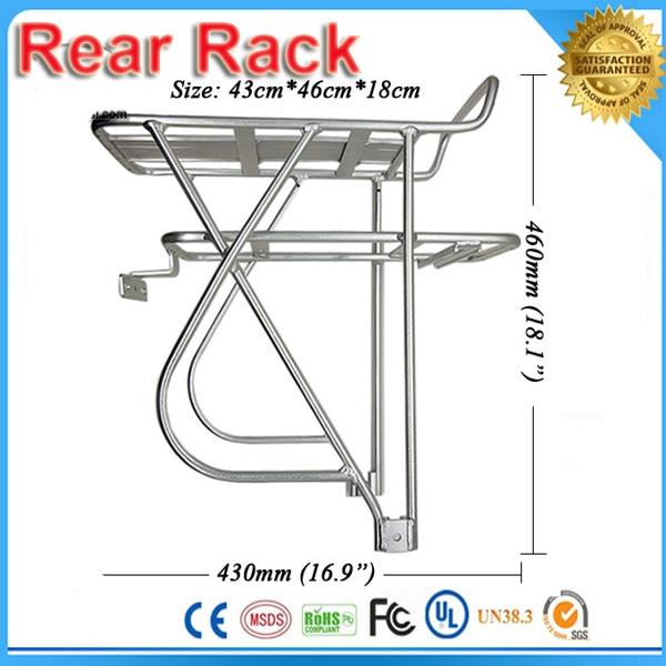 bicycle Battery rack Rear Shelf Rear Rack Rear Carrier for 36v 48v battery