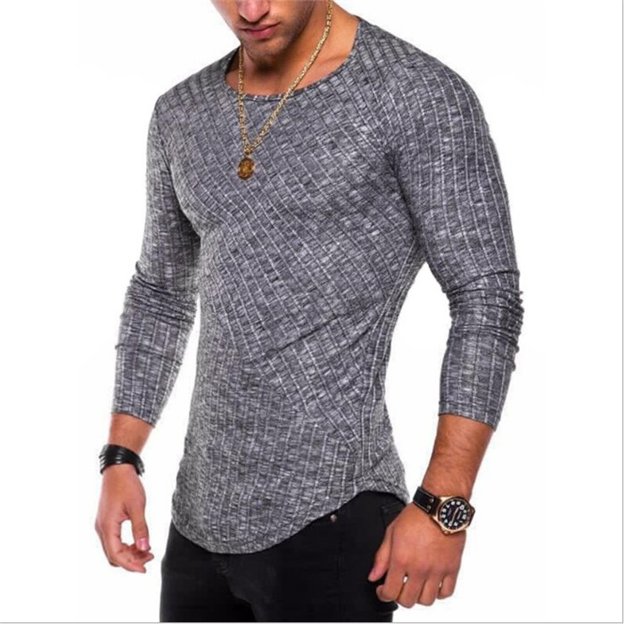 Drop Shipping Brand Sweater Sweater Thin O-Neck Knitted Pullover Solid Mens Muscle Sweaters Men Casual Top Clothes Plus Size 4XL