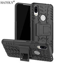 For Xiaomi Redmi 7 Case Heavy Duty Armor Hard Rubber Silicone PC Back Phone Cover for