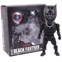 Egg Attack Captain America Civil War Black Panther PVC Action Figure Collectible Model Toy 18cm
