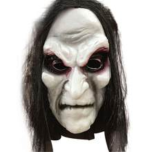 Halloween Zombie Mask Props Ghost Hedging Horror Mask Realistic Masquerade Halloween Mask Long Hair Ghost Scary Mask Party Decor(China)