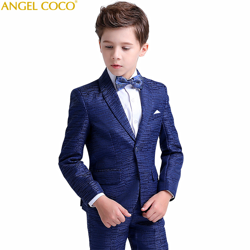 Blue Boys Suits For Weddings Kids Blazer Suit For Boy Costume Enfant Garcon Mariage Jogging Garcon Blazer Boys Tuxedo Menino blazer georgede пиджаки под джинсы