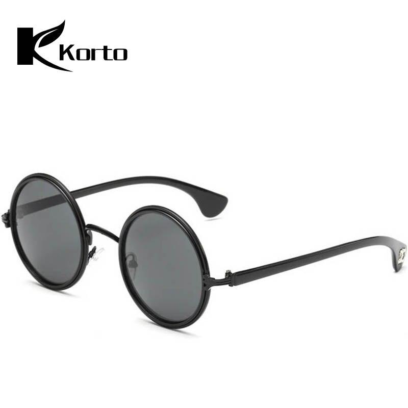 Marque de luxe Hommes lunettes de Soleil Rondes Rétro Steampunk Lunettes de  Soleil pour Femmes Nouveau c632855dc18d