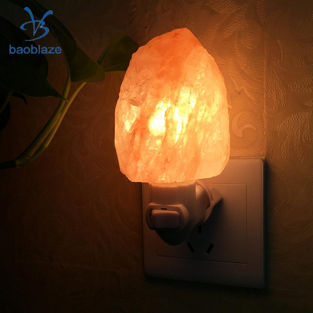 Hand-Carved Himalayan Crystal Salt Lamp Rock Stone Lamp Bedside Night Light Wall Lamp with On/Off Switch EU Plug oygroup mini hand carved natural crystal himalayan salt lamp night light cylinder shaped illumilite lamp salt light oy17nl02