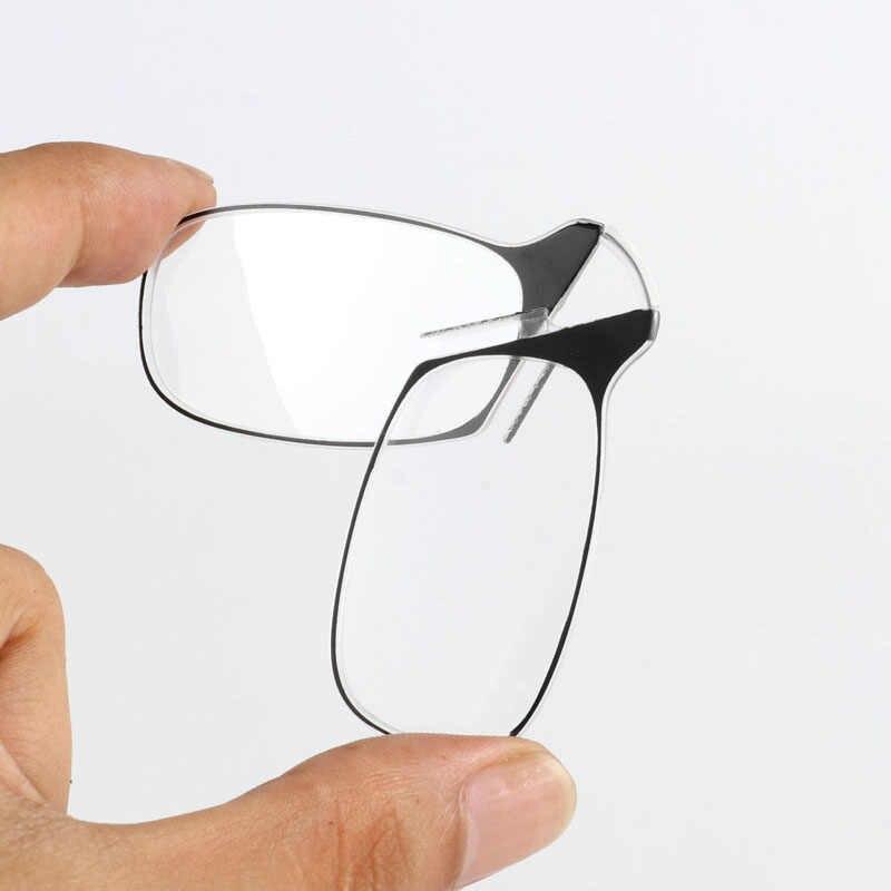 Vermelho filho clipe nariz mini óculos de leitura homem dobrável óculos de leitura das mulheres fácil transportar com chaveiro caso