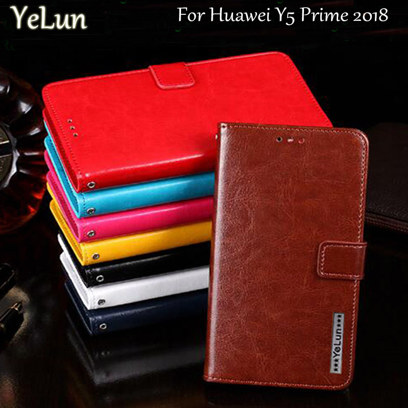 YeLun Flip Case <font><b>For</b></font> <font><b>Huawei</b></font> Y5 Prime 2018 leather wallet pouch Cover <font><b>For</b></font> <font><b>Huawei</b></font> <font><b>DRA</b></font>-L02 L22 <font><b>LX2</b></font> Case <font><b>phones</b></font> Back Coque Fundas image