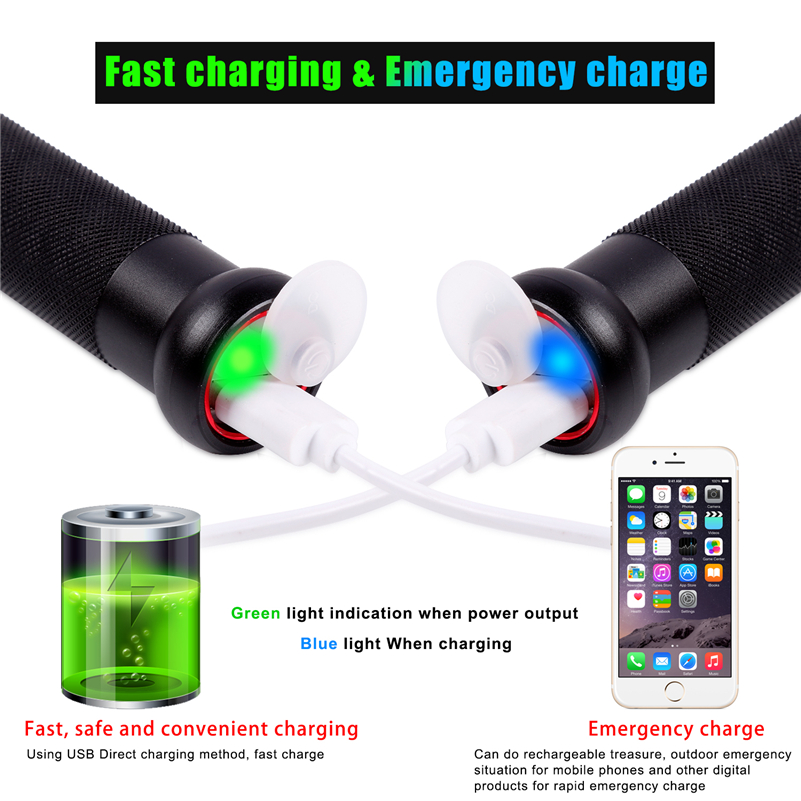West Biking Baseball Bat Led Flashlight Super Bright Waterproof Usb Charge Hard Light Defense Torch Emergency Portable Lamp In Bicycle From